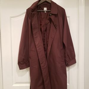 Chocolate brown trench